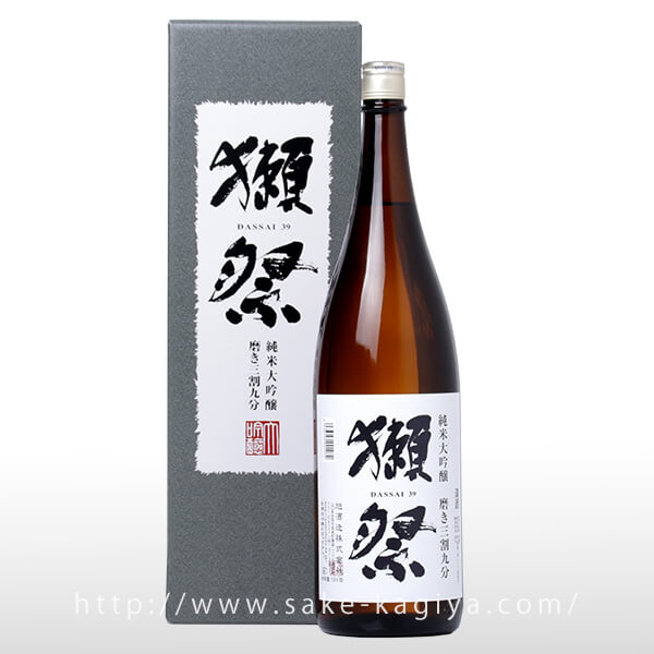 獺祭 純米大吟醸 磨き三割九分 1.8L 箱入り