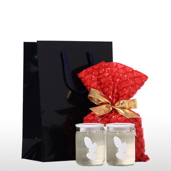 Ohmine 純米 ワンカップ バレンタイン2個セット