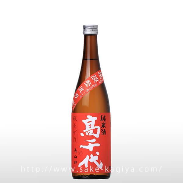 高千代 辛口純米+19 秋上がり 生原酒 720ml