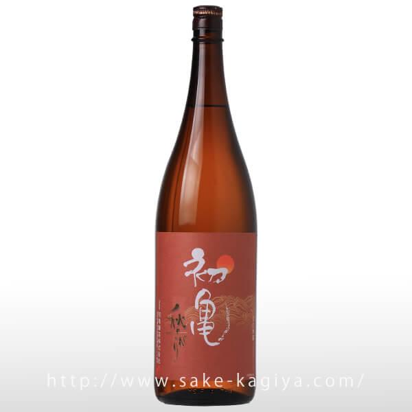 初亀 本醸造原酒 秋上がり 1.8L