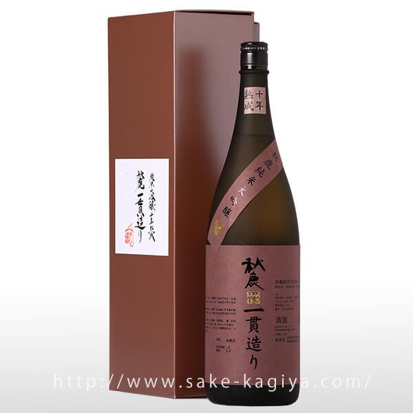 秋鹿 純米大吟醸 一貫造り 十年古酒 1.8L