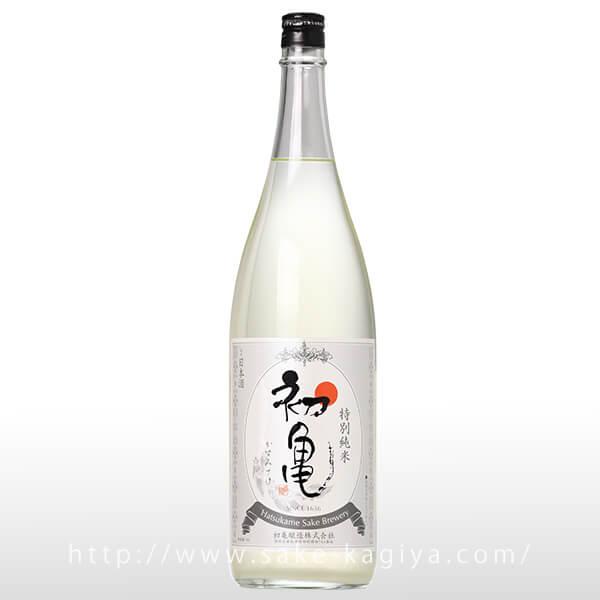 初亀 特別純米 かすみさけ 生酒 1.8L